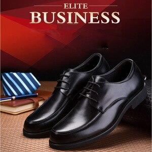 Image 5 - REETENE Oxford Schuhe Für Männer Kleid Schuhe Runde Kappe Business Hochzeit Männer Formale Schuhe Hard Tragen Retro Schuhe Männer