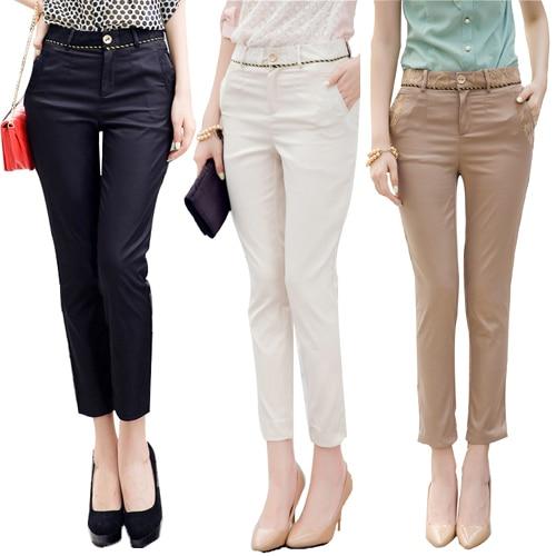 9fd875aef97d Plus Size S-XXL Skinny Khaki Pants for Women Pants Women's Cotton Pants &  Capris Tight Trousers Female Capris Nk3108 819 Onsale