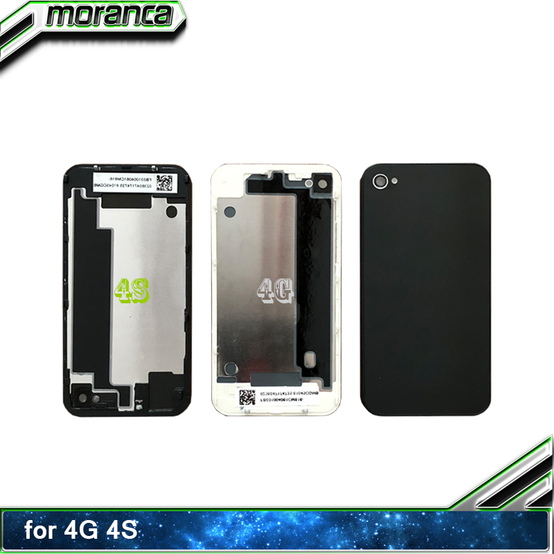 91de52433de Back Housing Battery Cover for iPhone 4g 4s Middle Frame Chassis Tempered  Glass