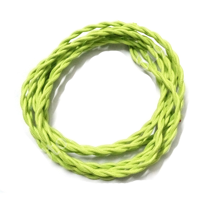 2M 2x0.75 Twisted Wire Cable Retro Braided Electrical Wire Fabric ...