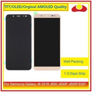 Image 1 - 50 Pcs/lot DHL pour Samsung Galaxy J6 2018 J600 J600F J600FN affichage à cristaux liquides avec écran tactile numériseur panneau approvisionné