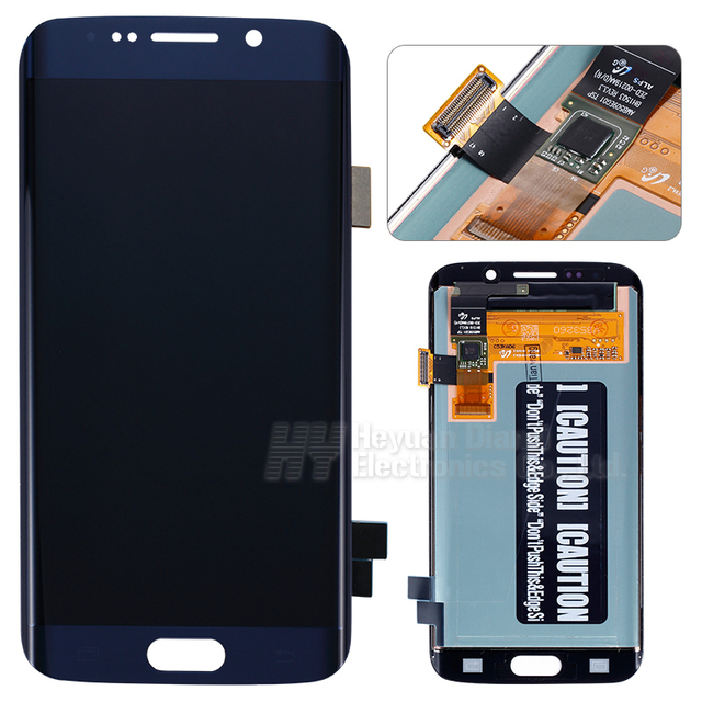 Por atacado para samsung galaxy s6 edge lcd screen display digitador touch g925f g925s g925p g925a exibição cor azul freeshipping