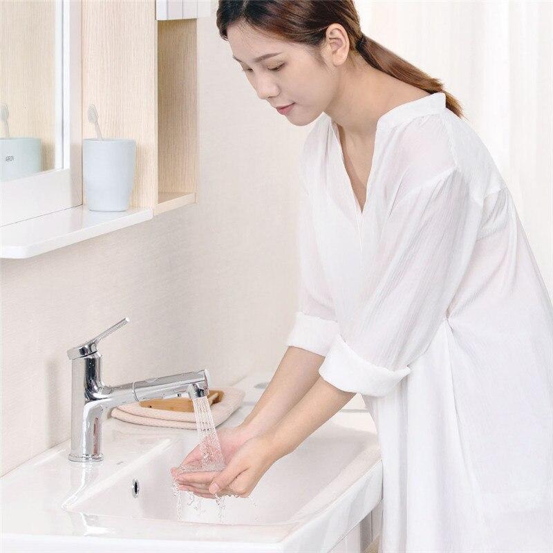 Xiaomi DABAI Bacia Banheiro Torneira Da Pia Pull Out Pulverizador Rinser Gargarejo Escovar 2 Modo Tap Cold & Hot Mixer Xiaomi torneira de Água - 6
