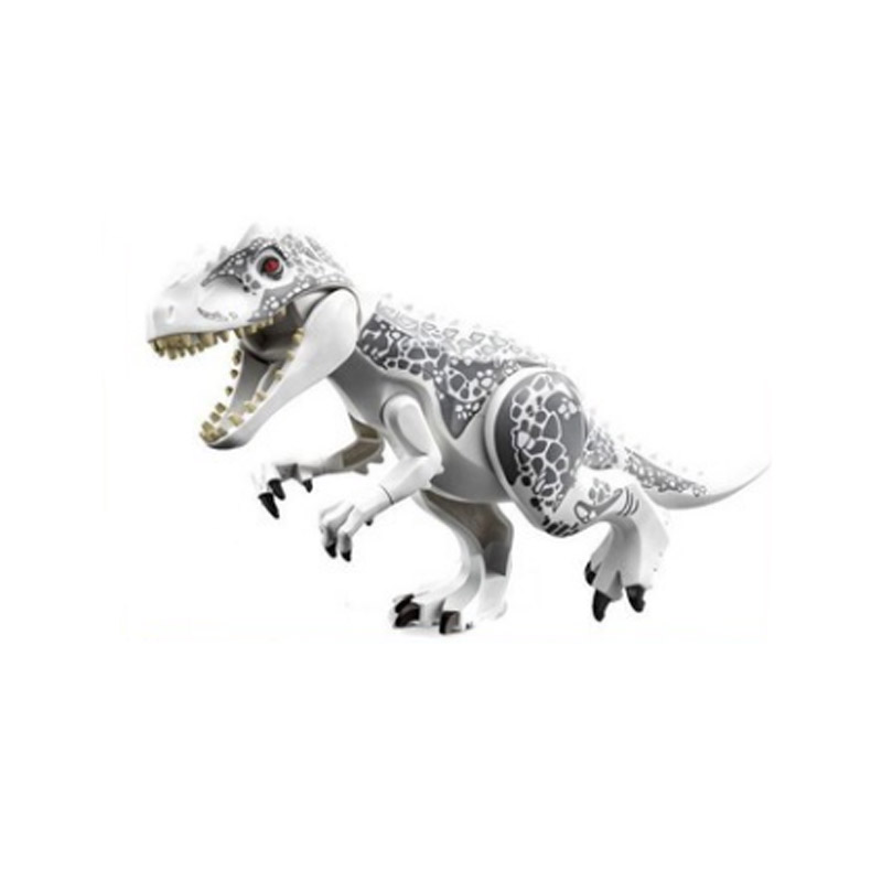 28cm Indominus Rex DIY Blocks Single Sale Dinosaurs Tyrannosaurus Rex Tiny Models & Building Blocks Toys For Children