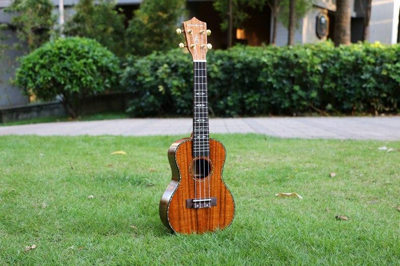 23 pulgadas de mini guitarra ukelele uke Ukelele Concert KOA Solid artesanía de