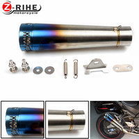 Universal Motorcycle Reupholstery Exhaust Pipe With Laser Label entrance fiber tube For Honda PCX 125/150 CBR1000RR CB 599 919