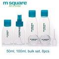 M Quadrado saco de Acessórios de Viagem Para O Frasco de perfume Parfum Spray Bottle Garrafa Reutilizável Garrafas Vazias Embalagens de Cosméticos