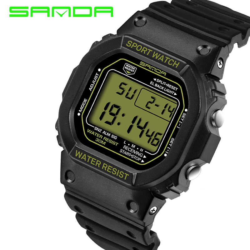 5a8627a29c7 ... SANDA Sport Watch Men Military Army Watch Waterproof Calendar LED Digital  Watches Top Brand Luxury relogio ...