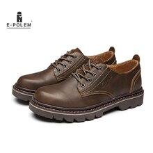 Мужские туфли из натуральной кожи Оксфорд Низкие ботильоны работы Обувь Повседневное Оксфорд Обувь для Для мужчин британский стиль Винтаж Повседневная дышащая обувь