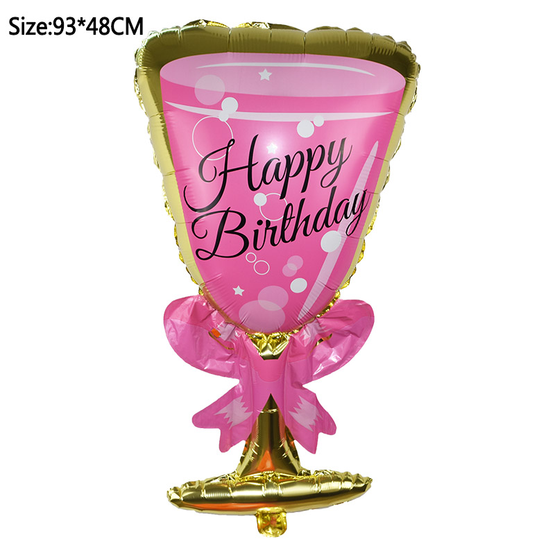 1pcs Foil Champagne Bottle/Beer Cup/Birthday Cake Balloons For Wedding Decorations 20