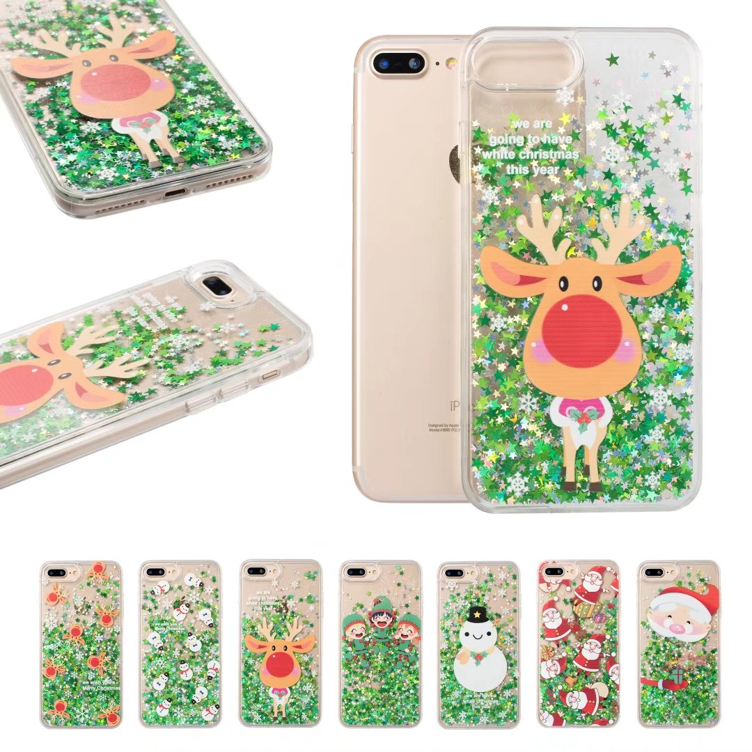 Cases For iphone 8 7 6 6s plus Merry Christmas Santa Claus elk ...