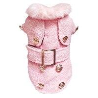 S/M/L/XL Pet Revestimento Do Cão Jaqueta de Inverno Ovelhas Tecido Tweed Moda Grosso Quente Dog Pet roupas #013