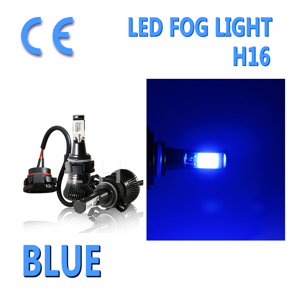 2X <font><b>LED</b></font> Light Fog DRL Driving Flash Bulb 5201 PS24W H16 <font><b>5202</b></font> And Stay Blue 12v