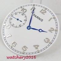 38.9mm Parnis blue hands white dial fit eta 6497 ST 3600 3620 movement Watch dial + hands