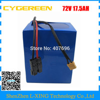2000W 72V 17.5AH battery pack 72V 17AH Lithium battery for motorcycle scooter use 35E 3500mah 18650 cell 30A BMS with 2A Charger
