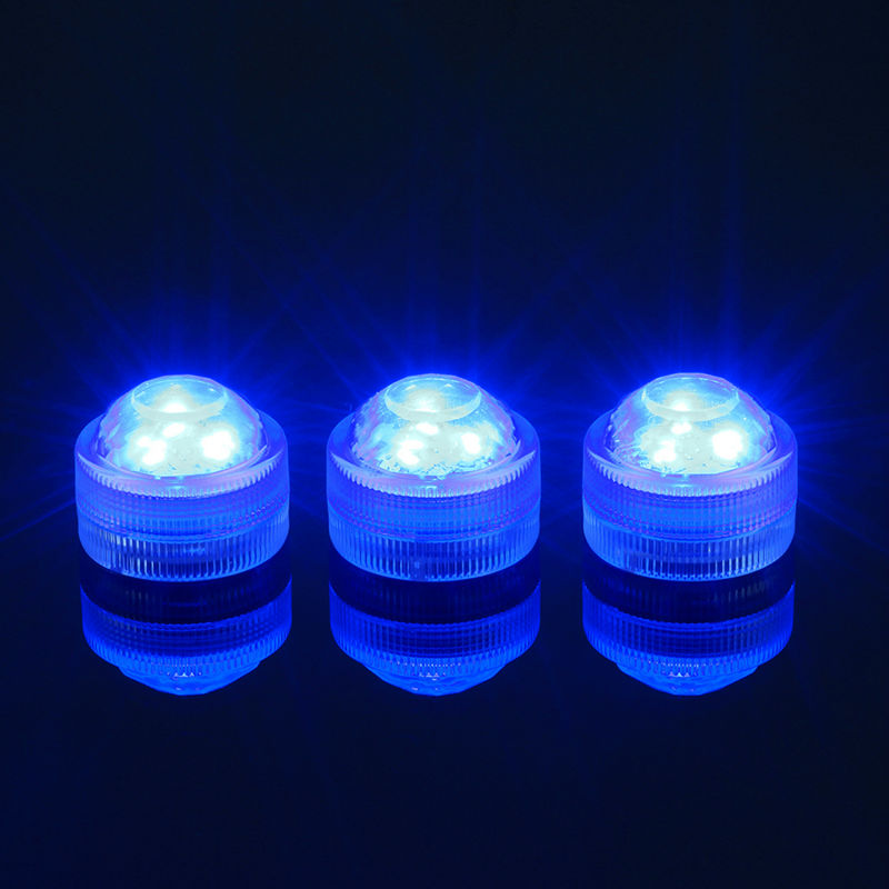 10pcs Super Bright 3LEDs RGB Multicolors Mini Submersible LED Lights For Decoration