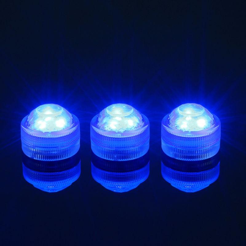 10pcs Super Bright 3LEDs RGB Multicolors Mini Submersible LED Lights For Decoration