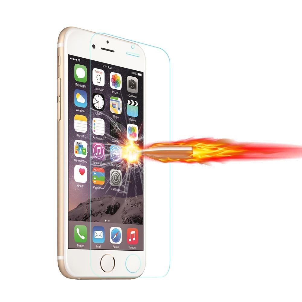 Apple iPhone üçün HD Clear Tempered Glass Film 4 5 5S SE 6 6S 7 8 - Cib telefonu aksesuarları və hissələri - Fotoqrafiya 2