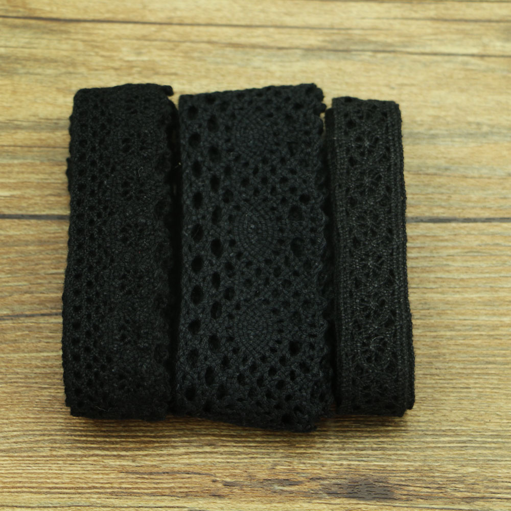 1 Yards Of Fine Black Cotton Lace Sewing Home Accessories DIY Materials Wedding Decoration