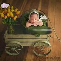 Новорожденных подставки для фотографий деревянный автомобиль маленьких девочек и мальчиков фотосессии позирует стенд железная кровать ко