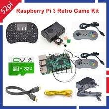 32 ГБ retropie игровой консоли комплект с рашпилем B Erry Pi 3 Модель B SNES контроллеры
