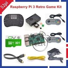 Raspberry Pi 3 Modèle B 32 GB RetroPie Jeu Console Kit avec SNES Contrôleurs