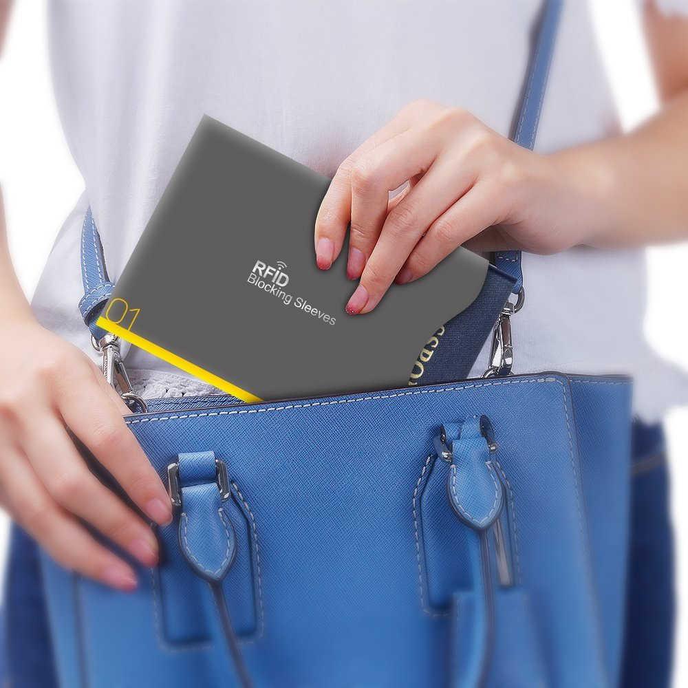 Aerb 14 шт./компл. кредитная карта, RFID протекторы блокирующие рукава Смарт Противоугонная идентификационная карточка кошелек для Passpport Обложка
