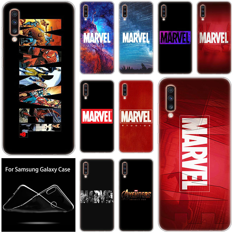 <font><b>Marvel</b></font> Comic luxury <font><b>Logo</b></font> Soft <font><b>Case</b></font> For <font><b>Samsung</b></font> <font><b>Galaxy</b></font> A90 A80 A70 A60 A50 A40 <font><b>A30</b></font> A10 A20E A2CORE A9 A7 A8 A6 Plus 2018 A5 2017 image
