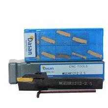 1pcs MGEHR1616 3 MGEHR2020 MGEHR2525 MGEHR1212 2 ו 10pcs MGMN300 MGMN200 מוסיף Grooving מחרטה מפנה בעל כלי סט