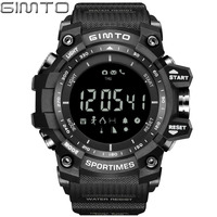 GIMTO Brand Digital Sport Watch Altimeter Barometer Smartwatch Shock Male LED Waterproof Wrist Watches Military Clock