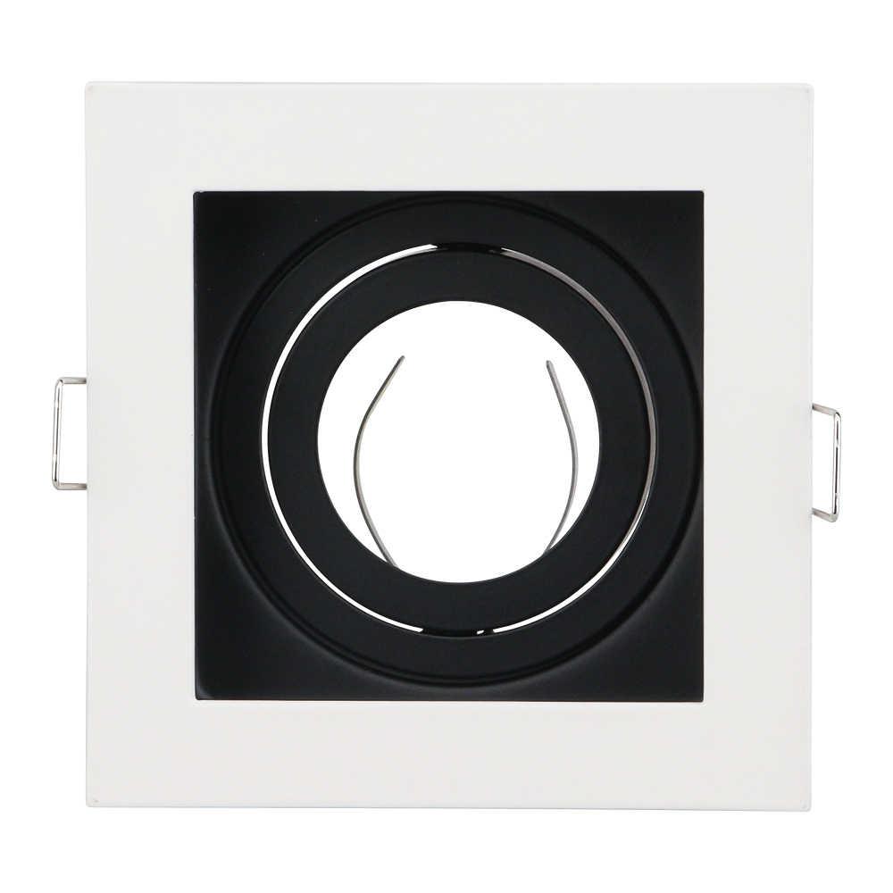 Podstawa lampy biały/czarny GU10 MR16 E14 wpuszczany sufitowy reflektor Downlight podstawa gniazdo regulowana średnica 50mm cięcia otworu 90mm