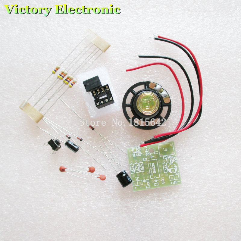 2PCS/LOT Perfect Doorbell Suite Electronic DIY Kit for Home Security 6V PCB 3.9 x 3.5 cm ...