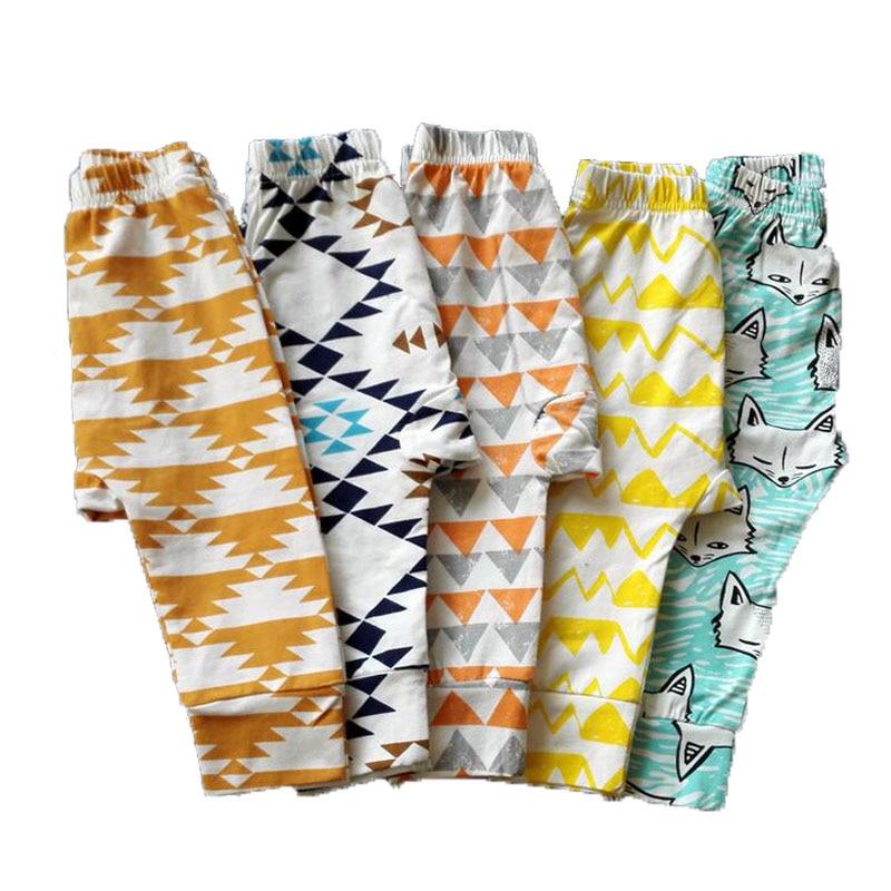 Baby Pants Children Casual Trousers Animal Character Geometry Print Boys Harem Pants Girls Loose Leggings Enfant Toddler Pants