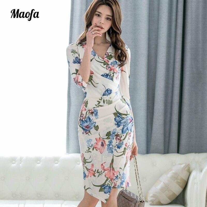 2018 Women Plus Size sheath Dress Summer White Half Lantern Sleeve Halter Casual Flower Dress Elegant Club Party Dress Vestidos plus size stripe half sleeve sheath dress
