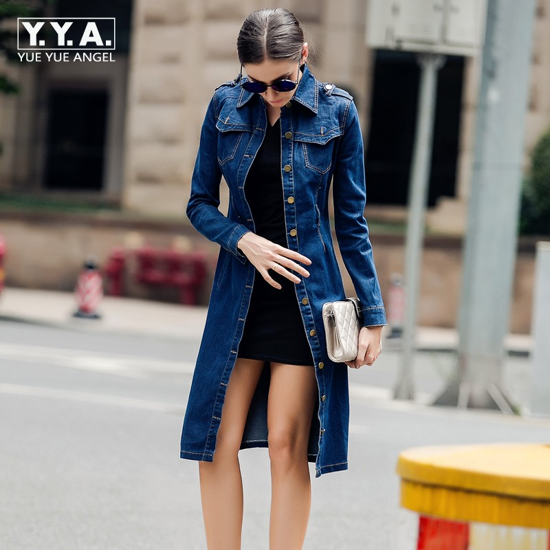 Top Fashion Womens Casual Overcoat Cotton Long Trench ...