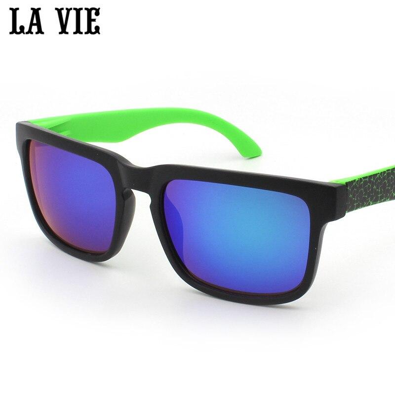 a3bd01caa LA VIE الشباب بارد نمط النظارات الشمسية للرجال مصمم القيادة الملونة عدسات  عاكسة نظارات شمسية نظارات oculos masculino LV901
