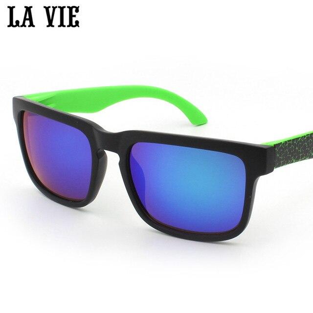 dbbed9c2e64 LA VIE Young Cool Style Sunglasses for Men Designer Driving Colourful Mirror  Lens Sun Glasses Eyewear oculos masculino LV901