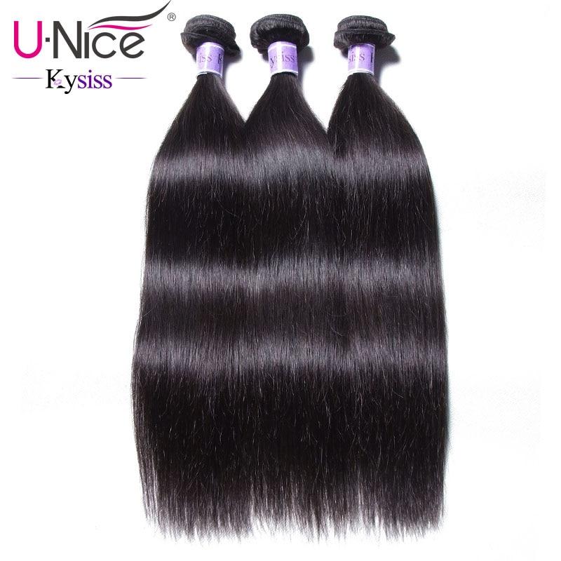 UNice Hair Kysiss Series Malaysian Straight Hair Weave Bundles Human Hair 3  Bundles 8 30 inches Natural Color Virgin Hair-in 3/4 Bundles from Hair Extensions & Wigs    1