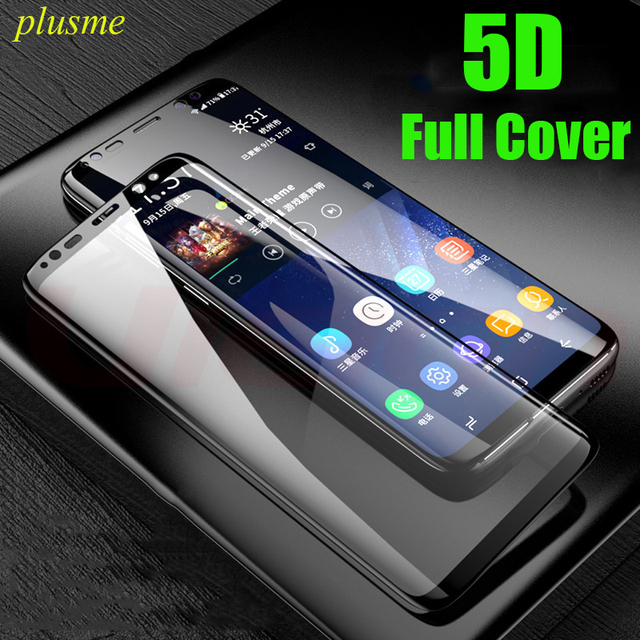 Plusme Full CoverTempered Glass For Samsung Galaxy S6 S7 Edge 5D Film Curved Screen Protector Film For Samsung S8 S9 Plus