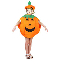 Hot Sale Kid Halloween Pumpkin Costumes With Hat Pumpkin Costume 2 Pieces Set Children Party Outfit