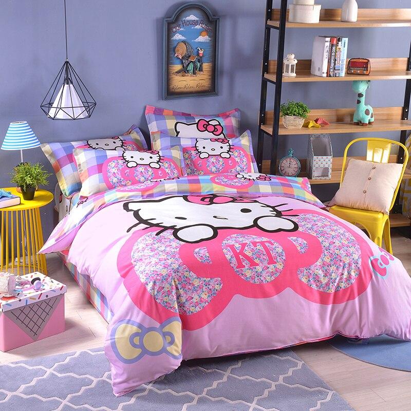 UNIKIDS Cute cartoon duvet cover set bedding set for Kids boy or girls Twin size KT016 cartoon and star print duvet cover set
