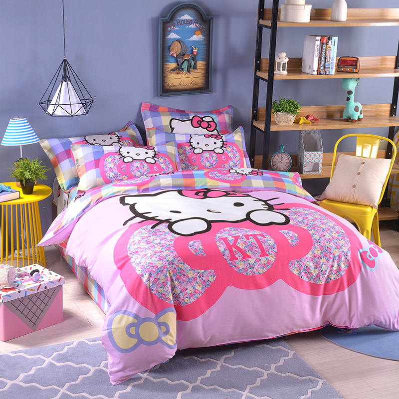 UNIKIDS Cute cartoon duvet cover set bedding set for Kids boy or girls Twin size KT016
