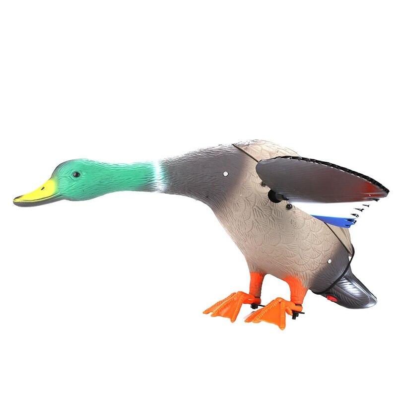 Leurres de chasse motorisés en plastique Dc 6 V canard de chasse avec ailes tournantes