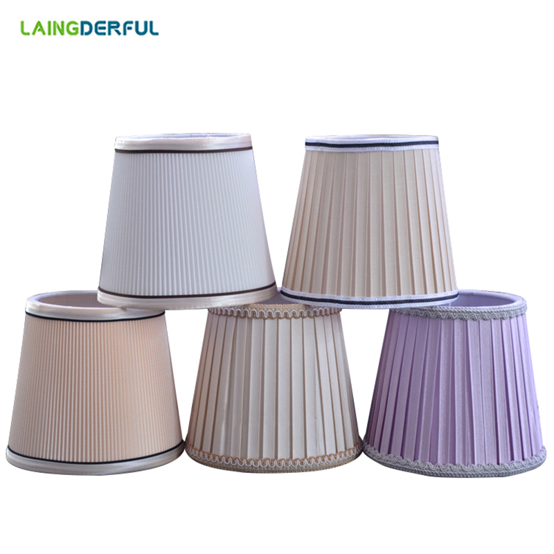American Style Creative PVC Fabric Lamp Shade E14 Art Deco Brief Cloth Lampshade for Pendant Lamp Wall Light 110*150*140mm