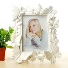 White photo frame 7 inch European minimalist creative wedding table pendulum