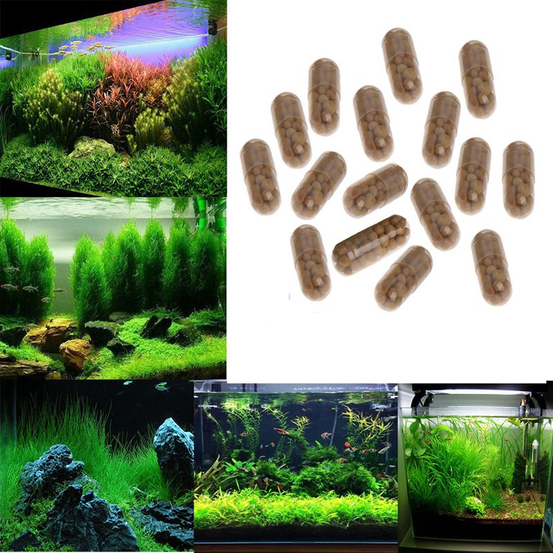 40 Pcs Aquarium Fertilizer Fish Capsules Live Water Nutrition Root Tank Plant Tab Grass