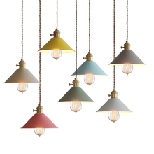 цены Free shipping European Dinning room restaurant  colorful loft Industrial modern pendant light lamp
