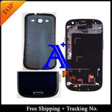 100%  tested 4.8′ Super AMOLED For Samsung Galaxy S3 neo  i9300i LCD I9300 Display LCD Digitizer Assembly with frame+ Back cover