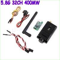 Wholesale 1 Set 5 8G 32CH 400MW 32 Channels HD 1080P FPV Wireless Transmitter DVR Camera