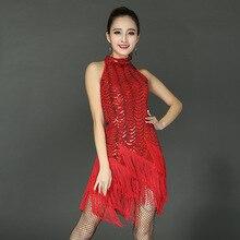 Latin Dance Kleid Sequin Fringe Quaste Mädchen Damen Kleider Latina Tango Ballroom Salsa Tanzwettbewerb Kleider